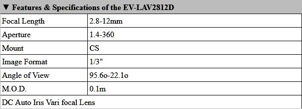 EV-LAV2812D Product Info